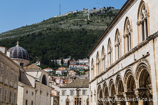 Hillside of Srd Hill seen from the old town of Dubrovnik