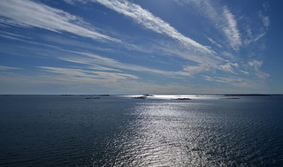 Baltic Sea with a small islands near Helsinki