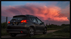Always looking (Peter Daum 69) Tags: car sonnenuntergang sunset sonnenaufgang sunrise landschaft landscape scenery natur nature peugeot cloud wolke farbe color canon 6d eos moods stimmung romantik licht light