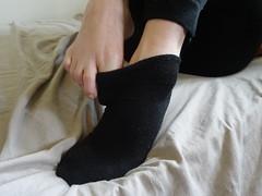 Black Ankle Socks (sockstargirl) Tags: socks sockfetish smelly sweaty sexyfeet sexysocks footfetish feet femalefeet