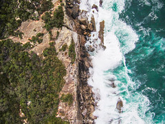 Don't Jump! (leonsidik.com) Tags: leon sidik aerial drone curlcurl ocean cliff beach sea rocks water sydney nsw newsouthwales australia