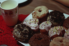 Doughnuts and Coffee (TheJennire) Tags: photography fotografia foto photo canon camera camara colours colores cores light luz young tumblr indie teen comida food 50mm detail donuts coffee drink mug pastel poetic calm doughnuts
