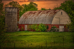 Poignant Pause (henryhintermeister) Tags: barns minnesota oldbarns clouds farming countryliving country sunsets storms sunrises pastures nostalgia skies outdoors seasons field hay silos dairybarns building architecture outdoor winter serene grass landscape plant cloudsstormssunsetssunrises