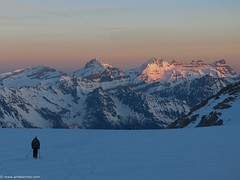 Glacier de Trient during sunrise