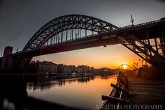 Tyne Bridge (sidrog28) Tags: bridge tyne sun early newcastle gateshead uk nikon river millennium boats