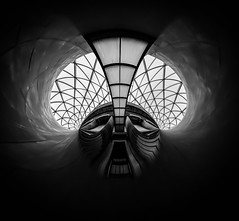 British Museum London by Simon & His Camera (Simon & His Camera) Tags: abstract distorted architecture round circle art london indoor interior arch building bw blackandwhite black vignette contrast geometric iconic monochrome pattern simonandhiscamera