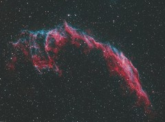 veil nebula 2 (__Aenima__) Tags: astroimaging astronomy astrophotography autoguided baader backyard ccd cluster colour deep sky object dso digital ed80 eq6 exposure filter finderguider guided imaging nebula image integration dark photoshop processed phd2 pixinsight nebulosity night stars skywatcher space