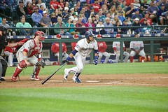 Robinson Cano looks down the line (hj_west) Tags: baseball philadelphiaphillies seattlemariners safecofield mlb interleague stadium night sports