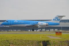 KLM Cityhopper PH-KZD Fokker F70 cn/11582 wfu 05 Feb 17 @ Kaagbaan EHAM / AMS 13-10-2016 (Nabil Molinari Photography) Tags: klm cityhopper phkzd fokker f70 cn11582 wfu 05 feb 17 kaagbaan eham ams 13102016