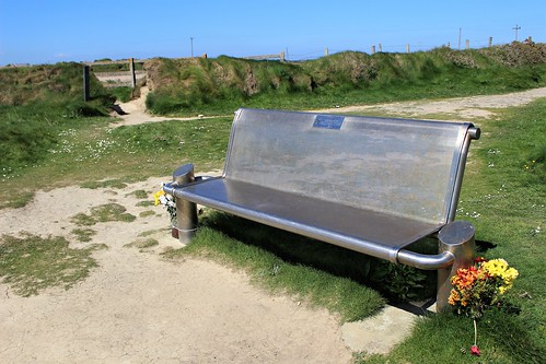 Cliff top memorial bench