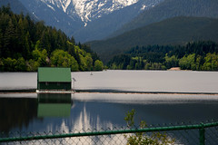 Cleveland Dam (Irene Drusiani) Tags: dam clevelanddam clevelandtrails vancouver mountains twolions snow glaciers skiing canada water house people day love hopeyoulikeit green nature human shot