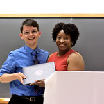 Justin Lien, Clinical/Community Outstanding Undergraduate Student Award; Associate Professor Carla Hunter