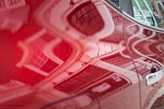 Escher's automobile (Stefanie Timmermann) Tags: car red escher architecture studio26 thecolorred