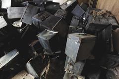 Neatly organized (aleadam) Tags: urbex abandoned office file filing box pile decay aleadam alejandroadam