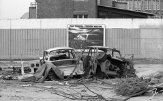 Einst heissbegehrt (2) (Maurits van den Toorn) Tags: ddr gdr berlin trabant wrack abandoned decay sloop wrak fiat stadtmitte cityscape cityview germany deutschland