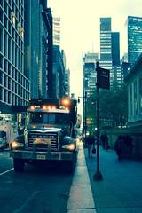 Manhattan Mack (Towner Images) Tags: ny nyc us usa towner manhattan urban city america townerimages truck mack nypl light illumination
