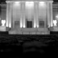 Katowice, Poland. (wojszyca) Tags: yashica mat 124g tlr 6x6 120 mediumformat fuji neopan acros 100 hc110 163 epson v800 night longexposure architecture abstract cathedral katowice