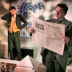 George Nettleton & Paul Dineen in the South London Theatre production of The Crocodile by Tom Basden.
