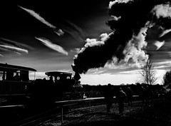 pg__000140551_bw (Phil Grain) Tags: statfold barn railway narrow guage gauge infra red infrared digitalinfrared tamworth seckington staffordshire tram 14 ashby burton steamtrain steamgala steamlocomotive