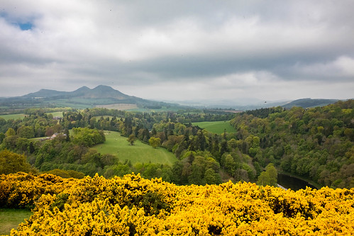 Scott's View, looking at the Eildon Hills