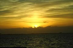 SUNRISE WITH CLOUDS (R. D. SMITH) Tags: sunrise ocean clouds canoneos7d water sun orange atlanticocean