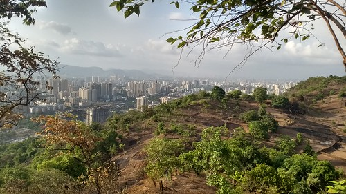 Thane city from Tiger Hill (Yeoor Hills)
