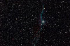 The Veil Nebula (Davide Simonetti) Tags: veilnebula westernveil supernovaremnant caldwell34 c34 52cygni ngc6960 witchsbroom fingerofgod filamentarynebula astrophotography astronomy space stars