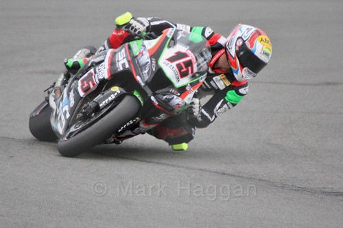 Alex de Angelis in World Superbikes at Donington Park, May 2017