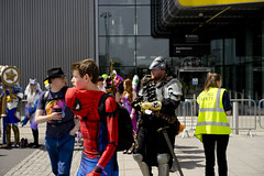 Spiderboy (jamiethompson01) Tags: comic con 2017 london excel dlr movies marvel video games pop culture batman spiderman star wars mcm multigenre fan convention bank holiday street candid martin parr british uk england people event day