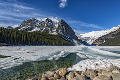 Lake Louise, Banff Alberta (angie_1964) Tags: lakelouise banff alberta canada lake frozen snow ice mountains rockies nikond800e trees blue sky landscape