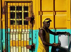 Yaman (Arx Zyanos) Tags: street colorful yellow colors color sel18200 sony ohne orange a6000 ilce6000 sonya6000 light old karibik carribeansea jamaica man people portrait mood moody sun sunset