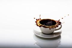 Coffee Splash (João Pens) Tags: cafe coffee highspeedphotography liquid splash white