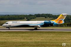 Trade Air Fokker 100 9A-BTE (philrdjones) Tags: 100 2017 9abte brs bristolairport bristolairportspotting eggd fokker june lulsgate swap southwestaviationphotographers tradeair