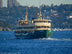 Manly Ferry Narrabeen makes way towards Circular Quay and the City (john cowper) Tags: manlyferry narrabeen sydneyharbour circularquay manly suburb commuters sydneypublictransport publictransport transportfornsw sydneyharbourferries sydney newsouthwales