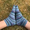 Shoreline socks (What I saw...) Tags: loch arkaig highlands scotland drops garn shoreline socks handknit knitted yarn wool knit