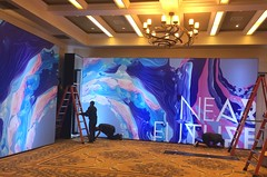 Events, Near Future Conference, Backlit Graphics with T3 structure
