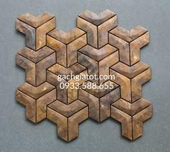 Gạch mosaic Đồng giả cổ