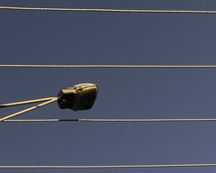 Power - Observing Gilles Plains 07 (ToBoote) Tags: sky blue parallel line wire power light street lamp