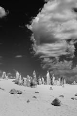 (mblaeck) Tags: landscape sky cloud perth pinnacles thepinnacles rock sand rocksandsand limestoneformation westernaustralia wa australia blackandwhite monochrome bw blackandwhitelandscape australianlandscape nature blackandwhitenature