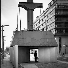 The Diving Bell - Dublin, Ireland - Black and white street photography (Giuseppe Milo (www.pixael.com)) Tags: man dock diving architecture ireland museum streetphotography dublin city faceless silhouette blackandwhite bell urban countydublin ie onsale