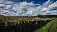 clouds (Phil-Gregory) Tags: field fly free clouds vision colour color wall stone sky nikon d7200 tokina 1120mm 1120mmf28 1116mmf8 116proatx wideangle ultrawide landscape vista visage england derbyshire blue pov perspective vanishingpoint light peace love