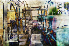 autobus (roberke) Tags: digitalart creation creative creatief photomontage photoshop layers lagen textures textuur surreal fantasy kleurrijk colorfull conceptual