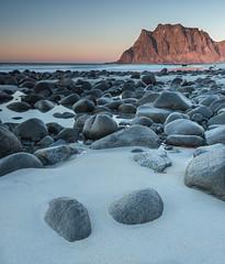 Lofoten --18 (lanstil) Tags: beach frozenlake icepatterns lofotenislands sunsetcolours