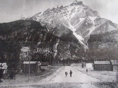 Rush Hour .... 1880 Banff National Park #Canada150 (Mr. Happy Face - Peace :)) Tags: albertabound yyc canadaparks rockies cans2s history banff alberta canada vintage art2017 poster artwork historic unknown oldtimephoto