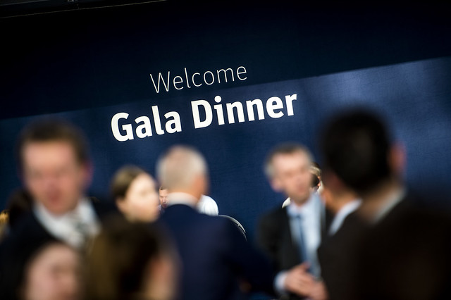 Welcoming sign for the Gala Dinner