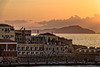 Orange sunset (2) (Lucille-bs) Tags: europe grèce greece crète creta kriti lacanée chania hania xania sunset coucherdesoleil couleur orange silhouette architecture port mer lumière bâtiment jetée nuage