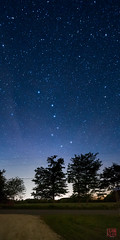 Big Dipper at Ogilvie Rd (Mitymous) Tags: bigdipper dark dipper longexposure night pano panorama stars summer17 vertorama