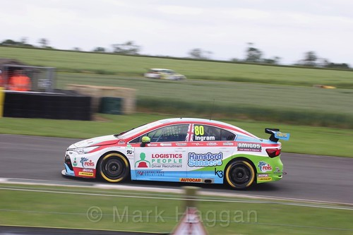 Tom Ingram in BTCC action at Croft, June 2017