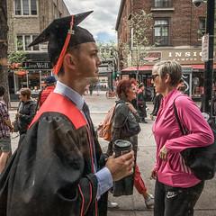 Graduation (Lisa Richelle Photography) Tags: street people color streetphotography streetincolor peopleonthestreets peopleonthemove madisonstatestreet urban