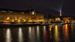 Reflections Along The Seine (gimmeocean) Tags: muséedorsay eiffeltower seine reflections paris france le longexposure